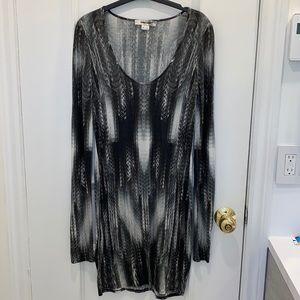 Helmut Lang Vertebrae Print Dress Size S